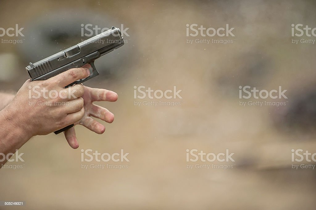 Changing Pistol Clip stock photo