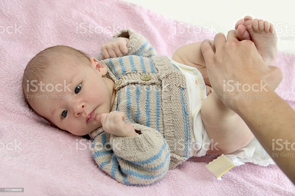 Changing the diaper royalty-free stock photo