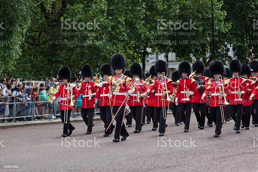 Changing the Guard at Buckingham Palace, London, England. stock photo