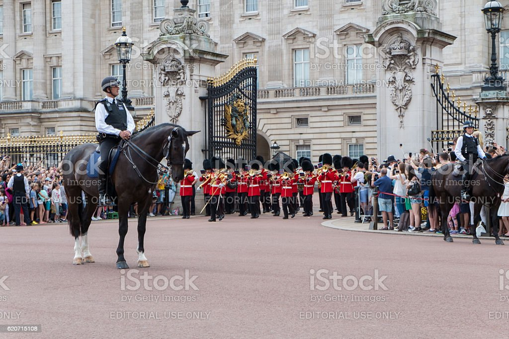 Changing the Guard at Buckingham Palace stock photo
