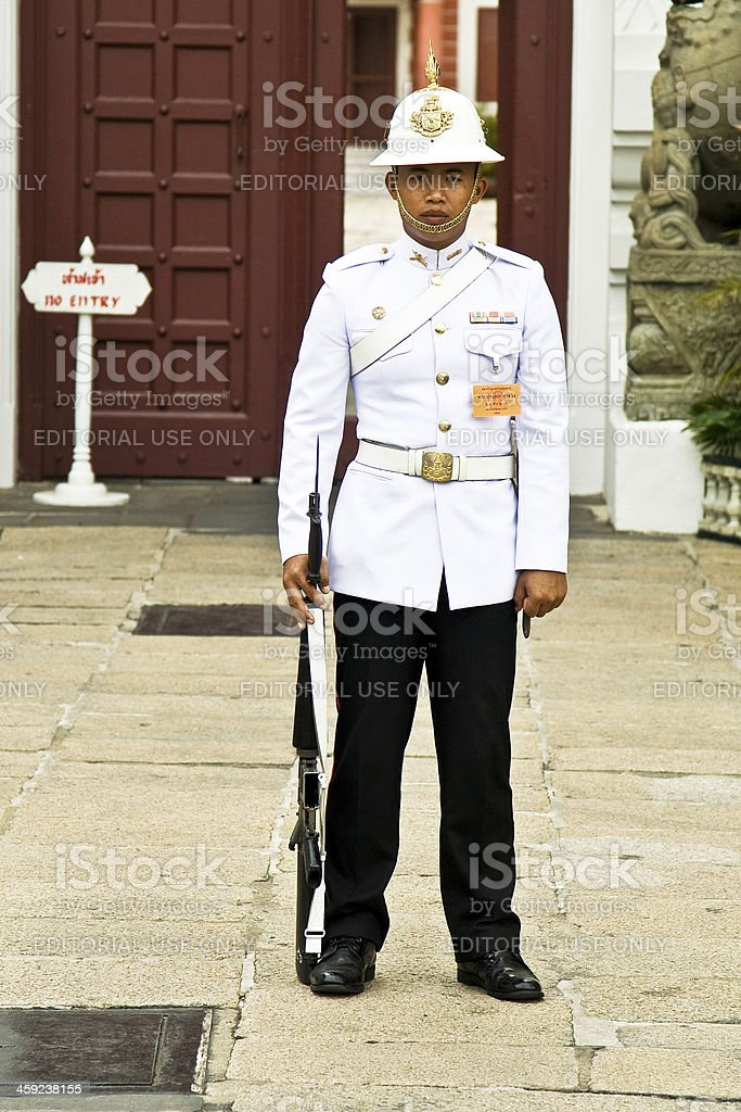 Changing the guard royalty-free stock photo