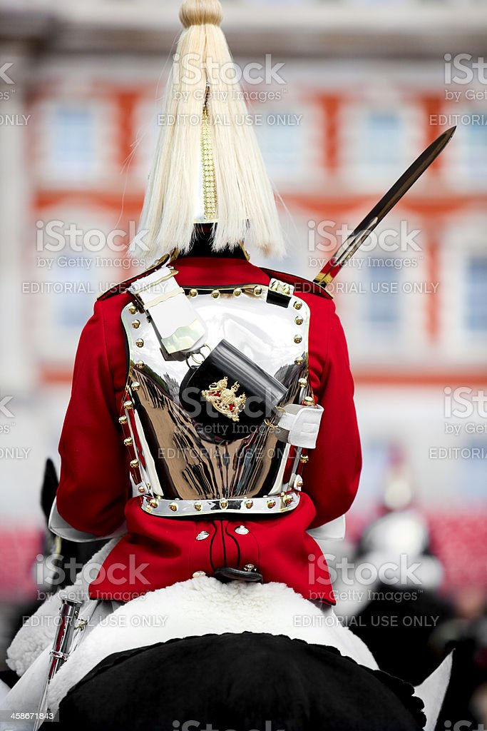 Changing the Guard tourist attraction in London England royalty-free stock photo