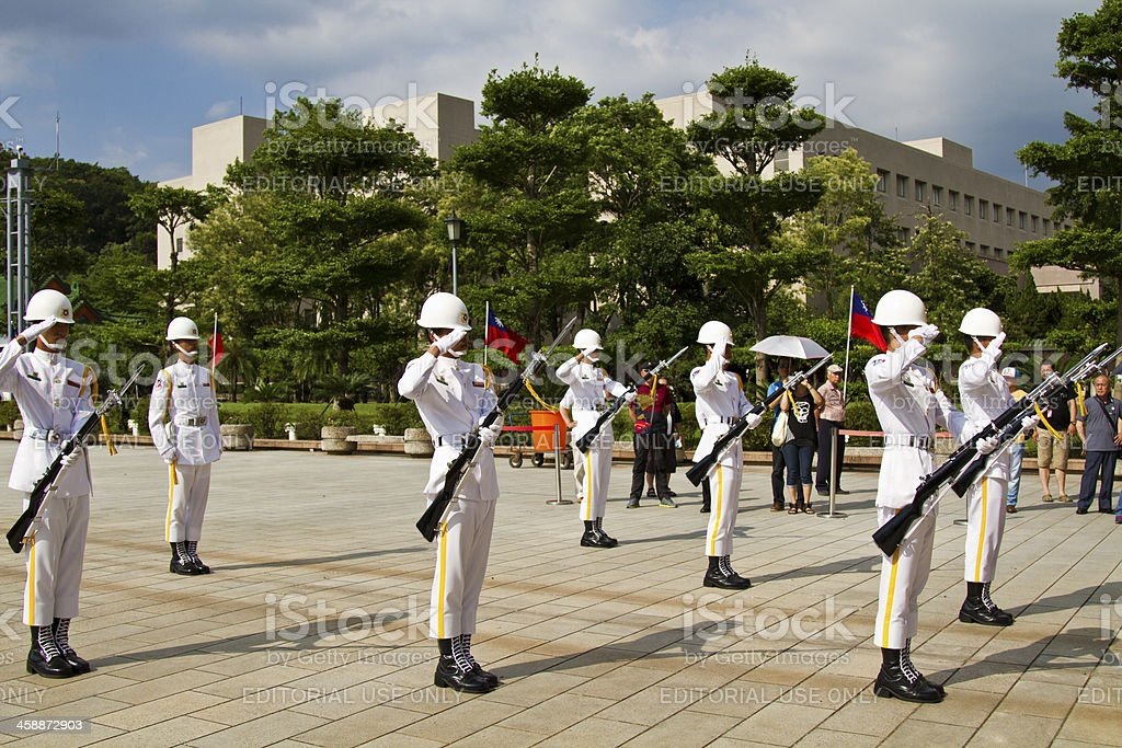changing the guard,Taipei,Taiwan royalty-free stock photo