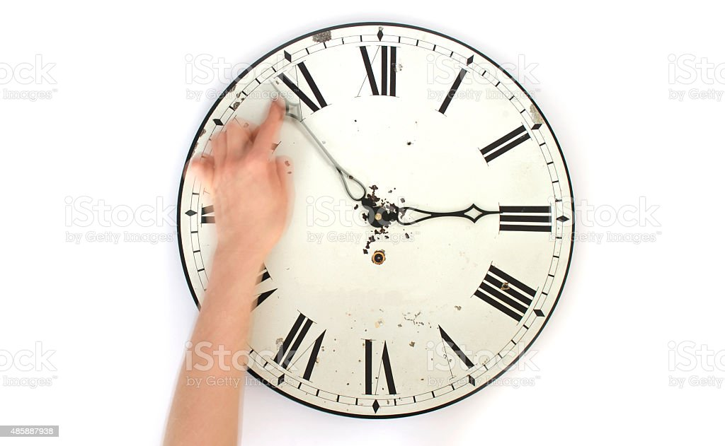 Changing the time stock photo