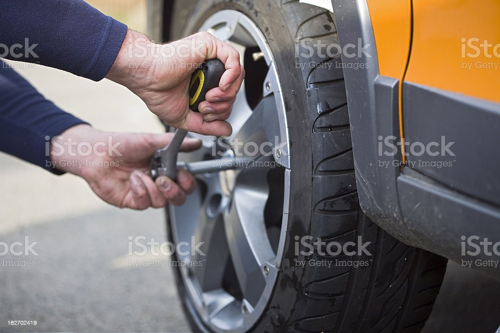Changing tires royalty-free stock photo