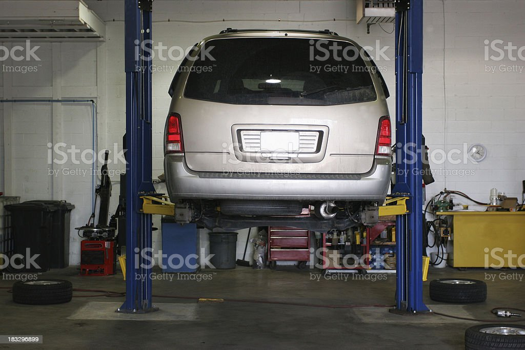 Changing tires. stock photo