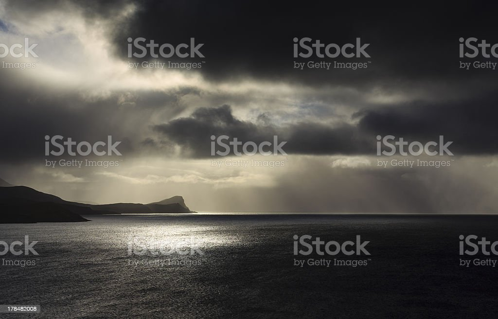 Changing weather. stock photo