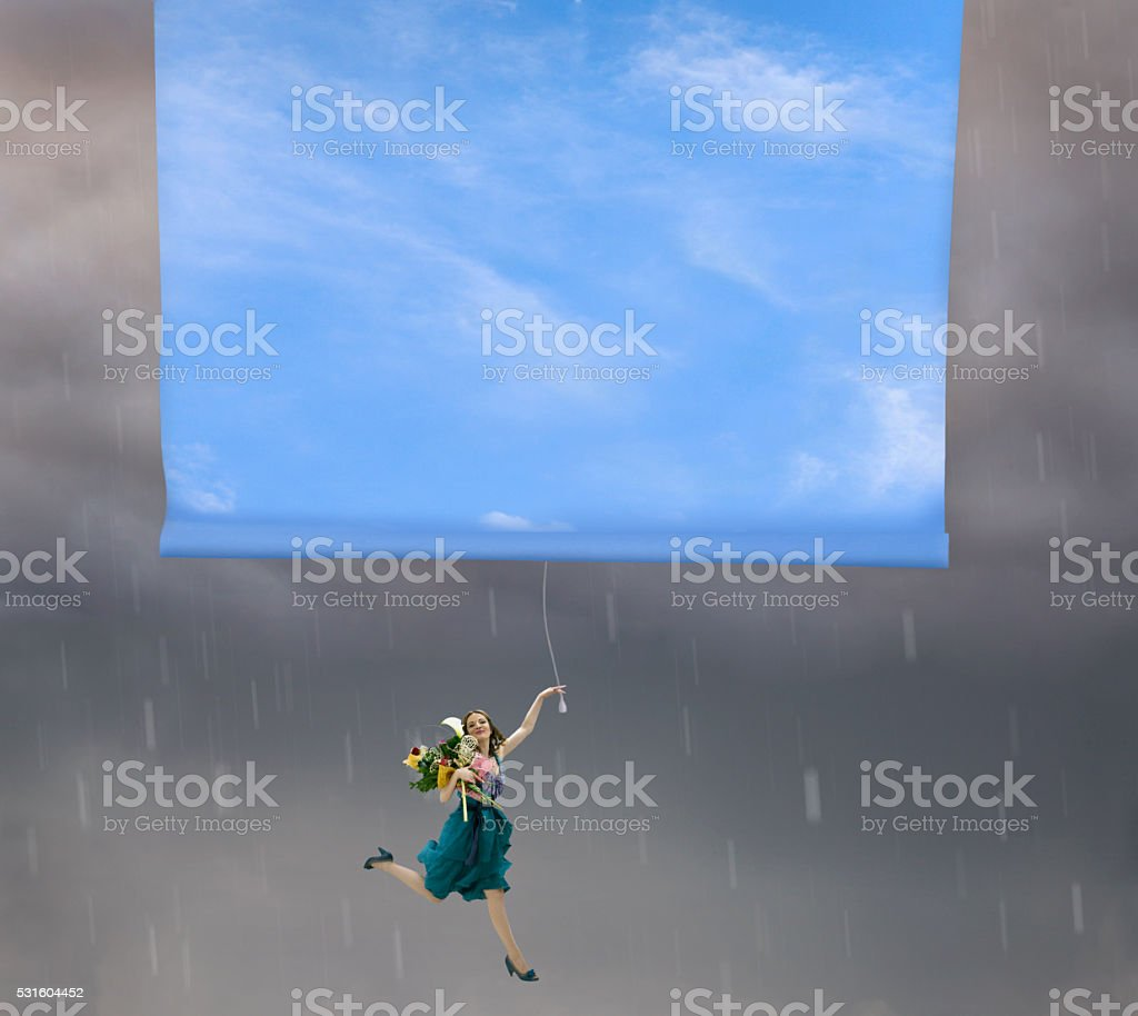 Changing weather stock photo