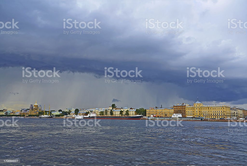 Changing weather. Start storm. royalty-free stock photo