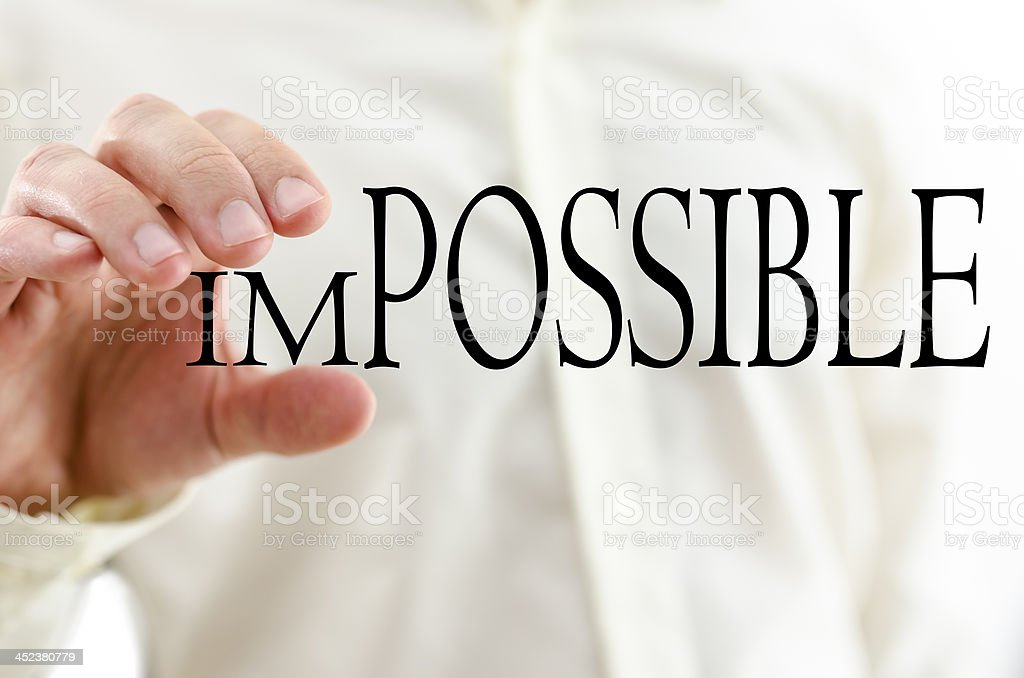 Changing word Impossible into Possible royalty-free stock photo
