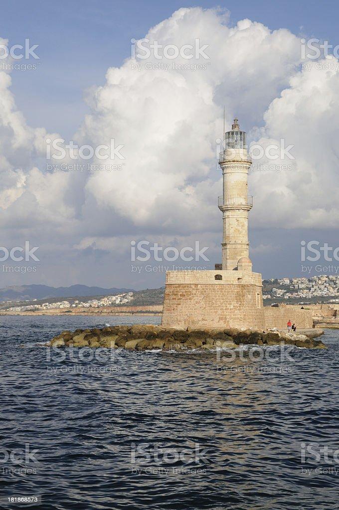 Chania Lighthouse, Crete royalty-free stock photo