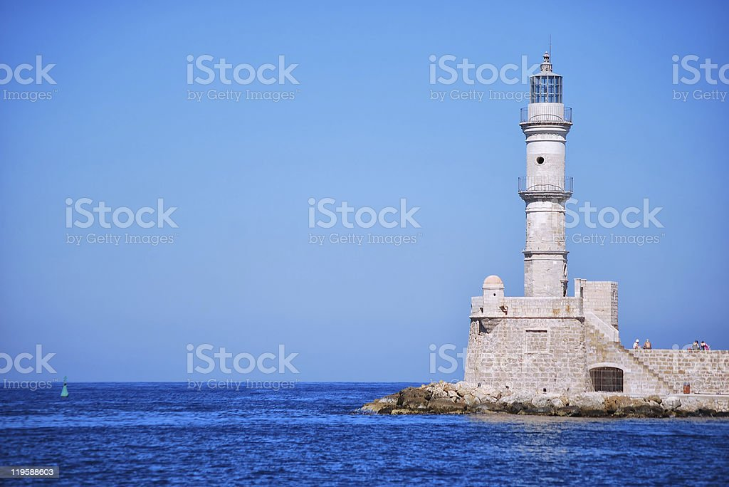 Chania lighthouse royalty-free stock photo
