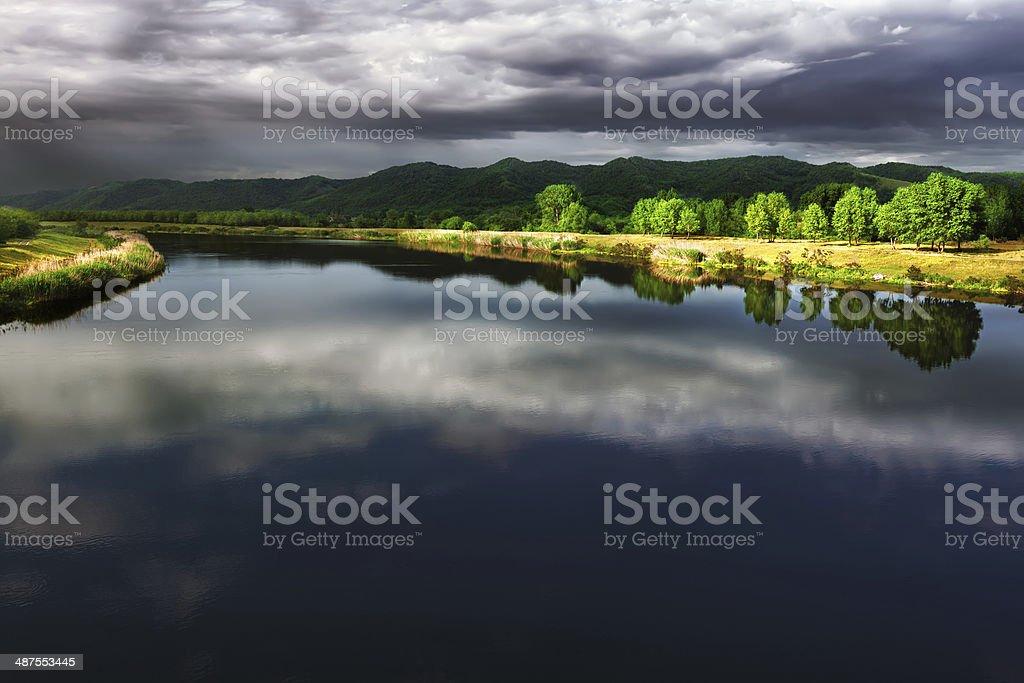 Channel Danube-Tisa-Danube in Serbia stock photo