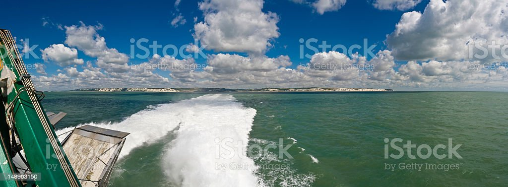 Channel ferry white cliffs Dover royalty-free stock photo