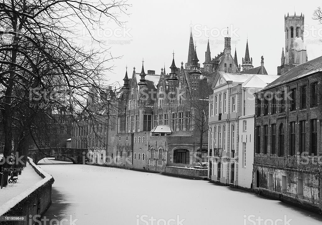 Channel in Brugge royalty-free stock photo