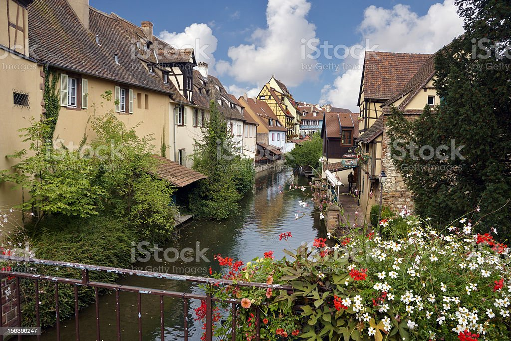 Channel in Colmar france stock photo