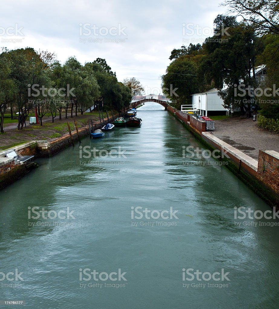 Channel in Venice royalty-free stock photo