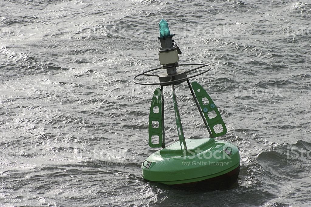 Channel Marker Buoy royalty-free stock photo