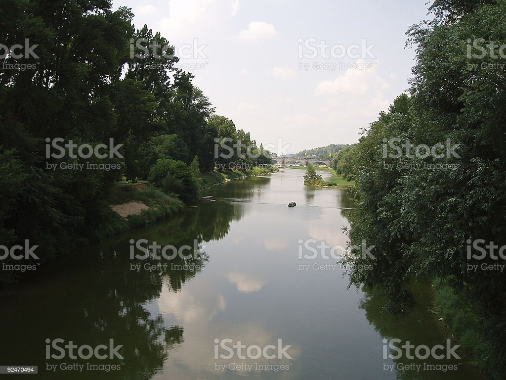 channel on the loire in Tours royalty-free stock photo