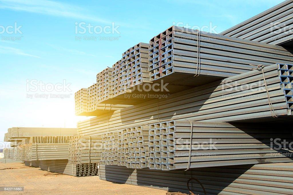 Channel steel stock photo