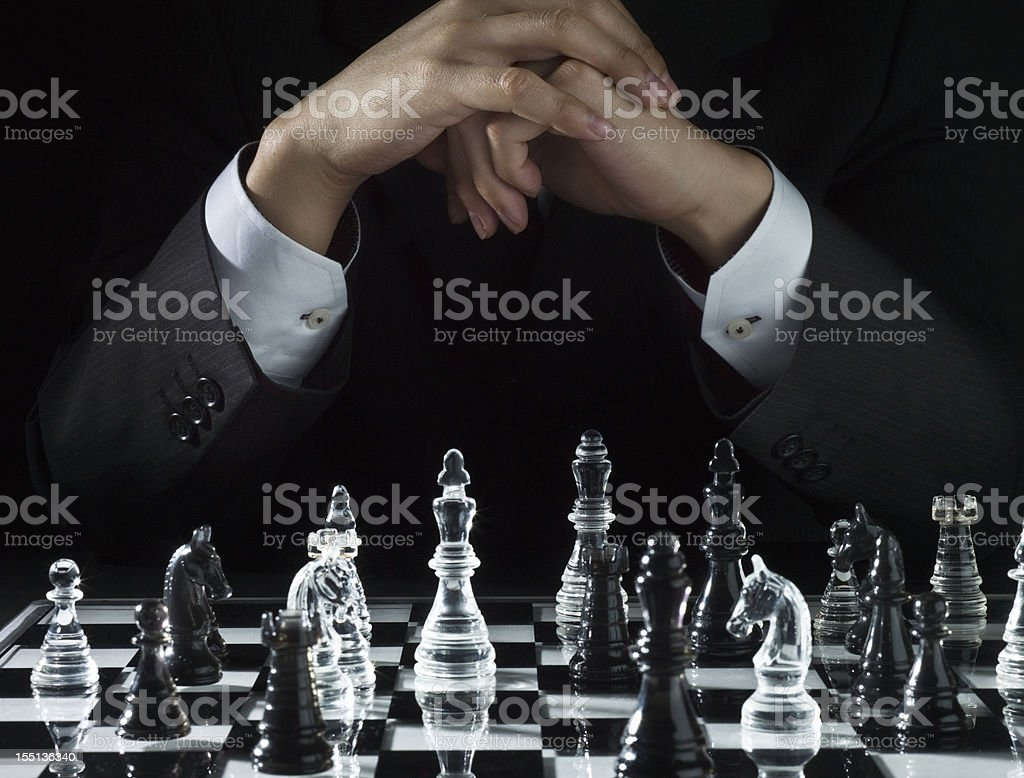 Channel strategy of chess stock photo