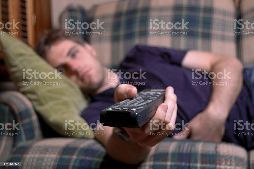 Channel surfing 1 stock photo