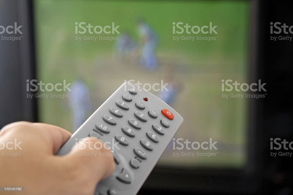 Channel surfing royalty-free stock photo