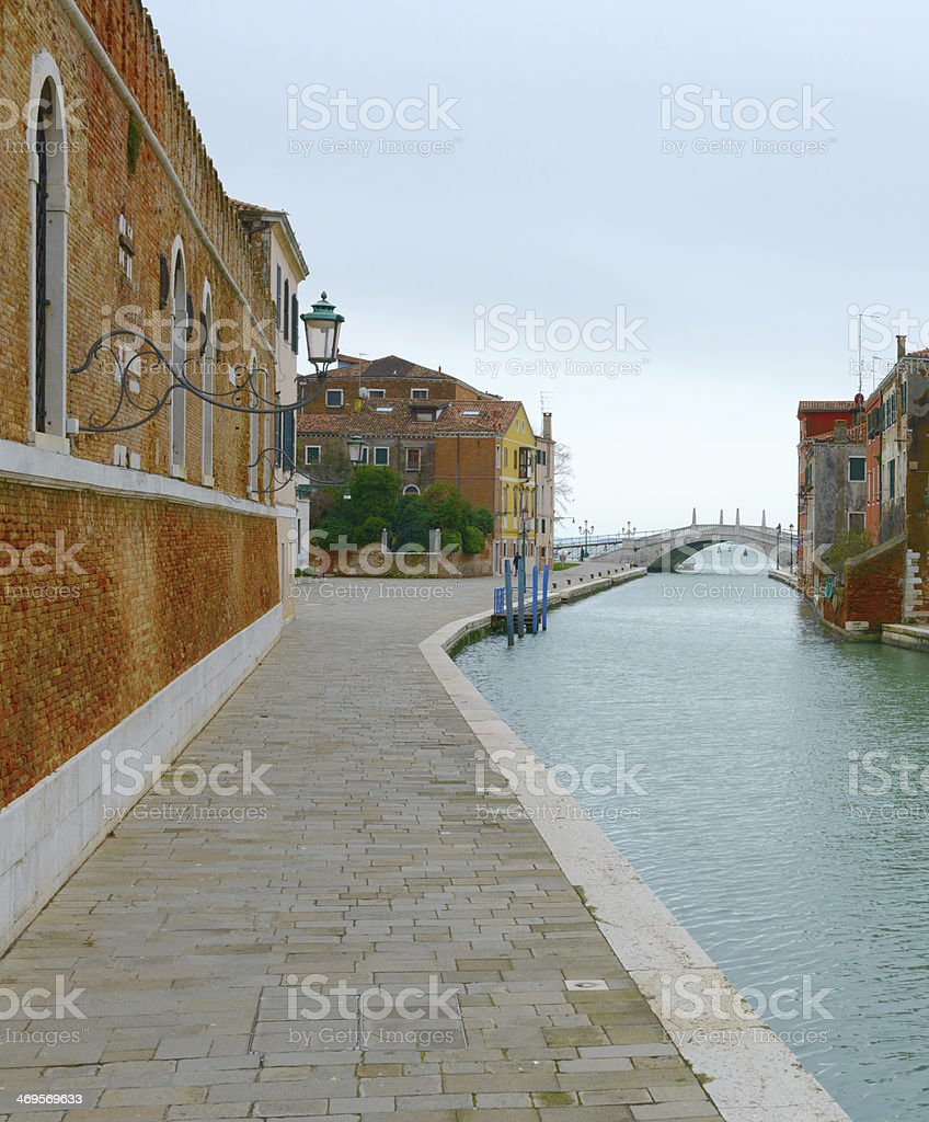 Channel to the venetian arsenal (Venice, Italy) stock photo