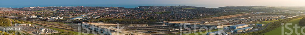 Channel Tunnel complex stock photo