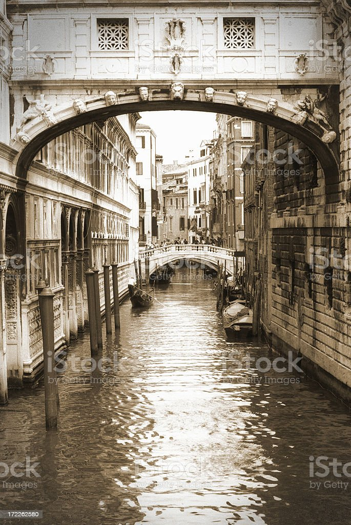 Channels in Venice (Seufzerbrücke) royalty-free stock photo
