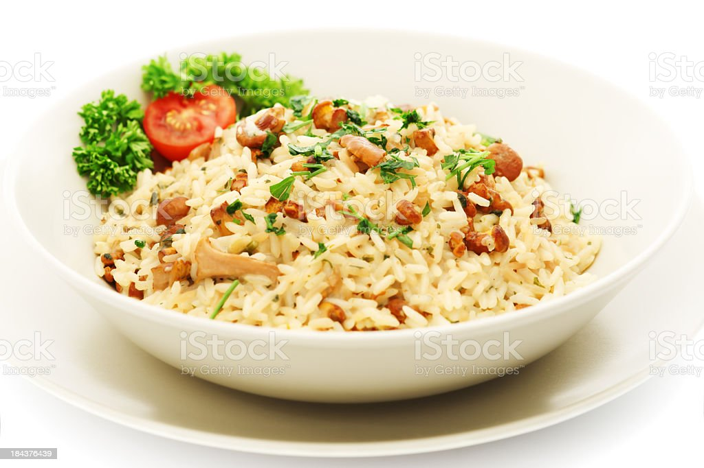 Chanterelle Risotto royalty-free stock photo