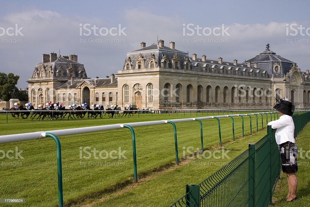 Chantilly Living Horse Museum stock photo