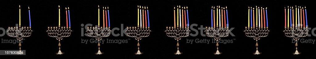 Chanuka candles royalty-free stock photo