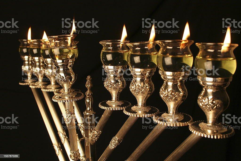 Chanukah Menorah royalty-free stock photo