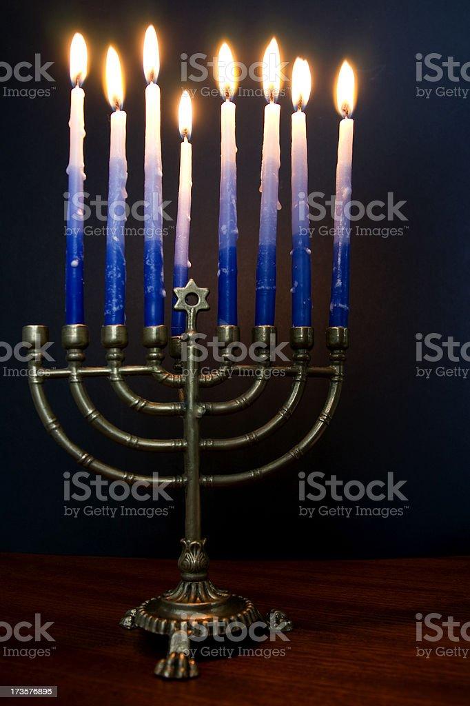 Chanukah - seventh night stock photo