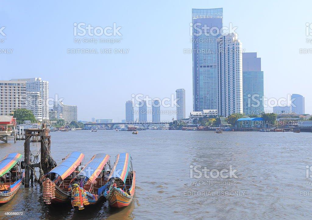 Chao Phraya river Bangkok stock photo