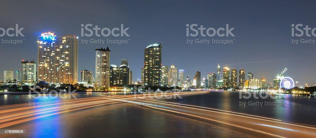 Chao phraya river view stock photo
