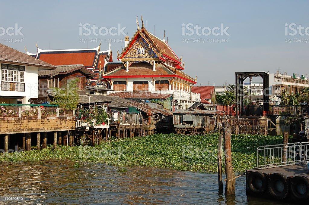 Chao Praya river boat pier, Bangkok - Thailand stock photo