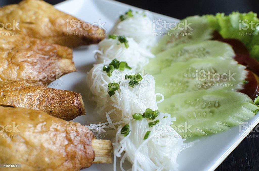 Chao tom - Vietnamese food royalty-free stock photo