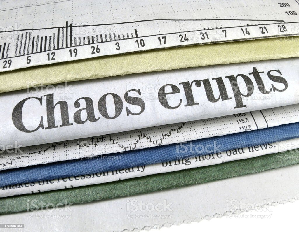 Chaos Erupts royalty-free stock photo