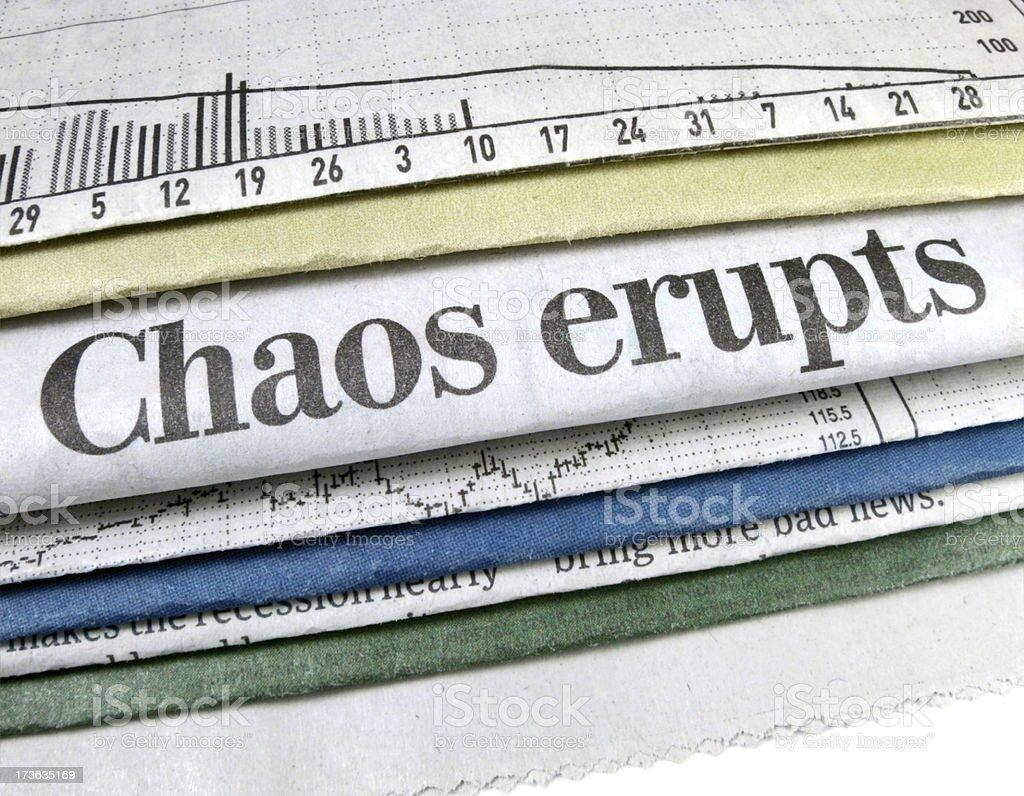 Chaos Erupts stock photo