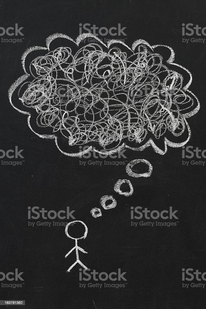 Chaos in thoughts royalty-free stock photo