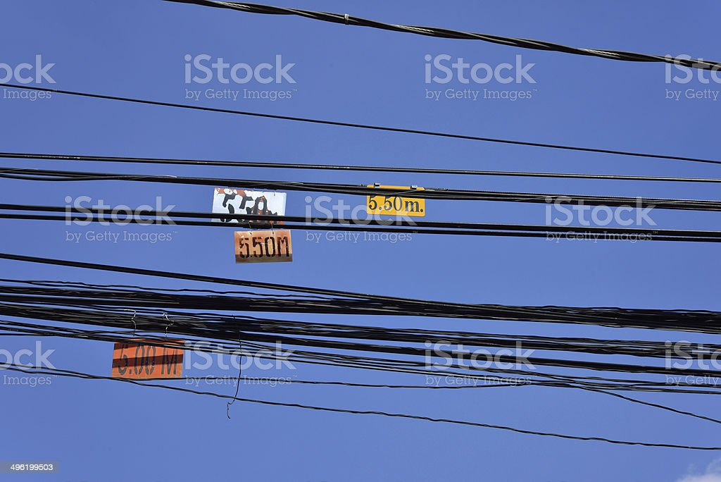 chaos of cables and wires royalty-free stock photo