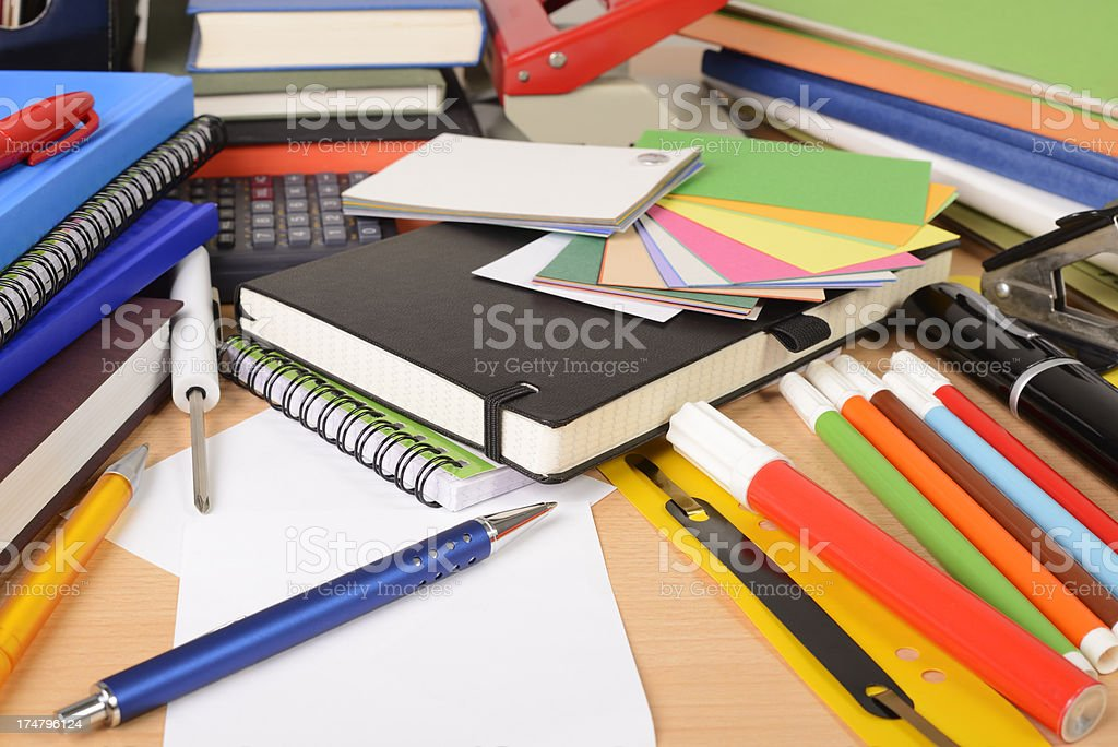 chaos on desktop stock photo