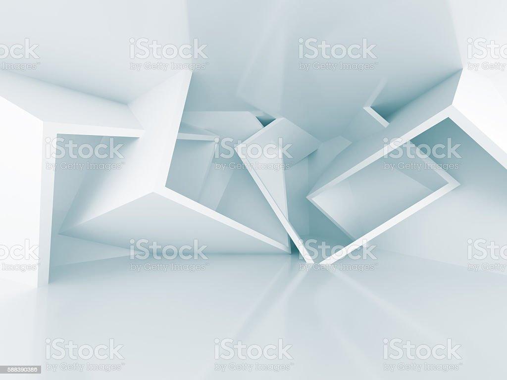 Chaotic Geometric Design Architecture Interior Background stock photo