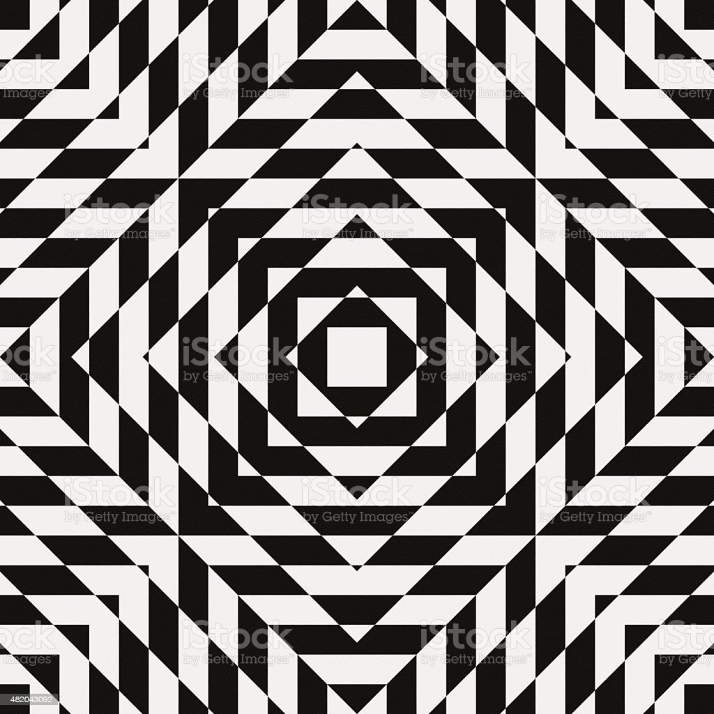 Chaotic geometric design on white paper stock photo