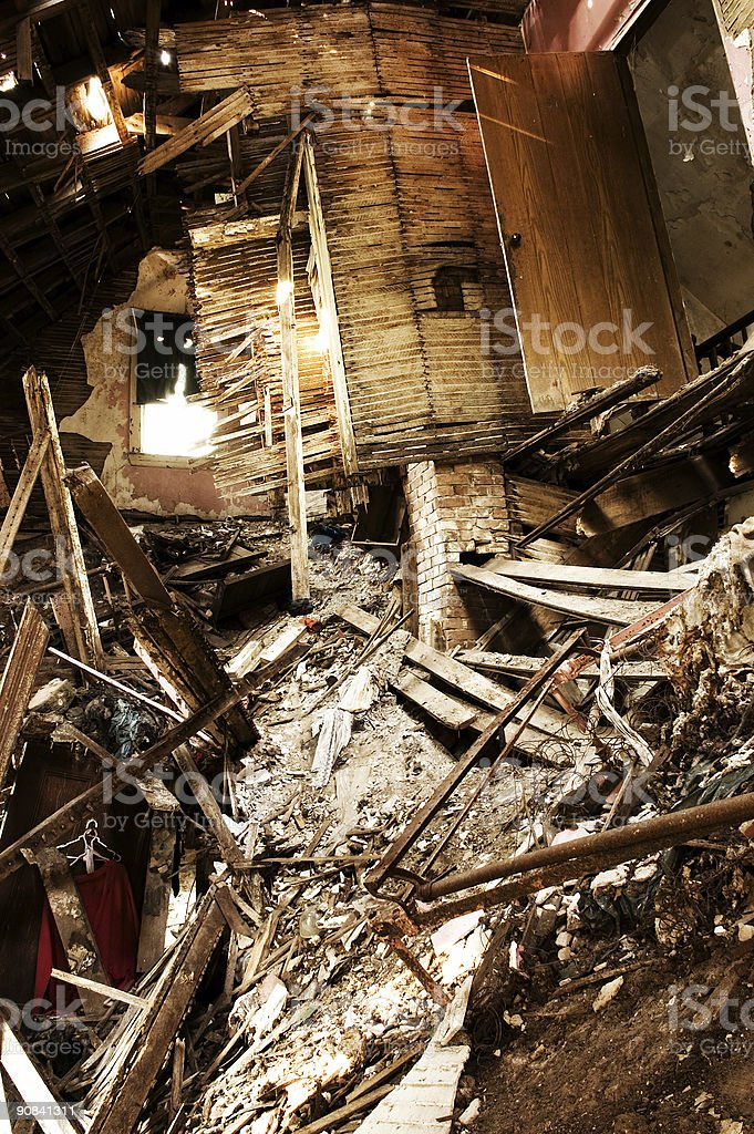 Chaotic Interior stock photo
