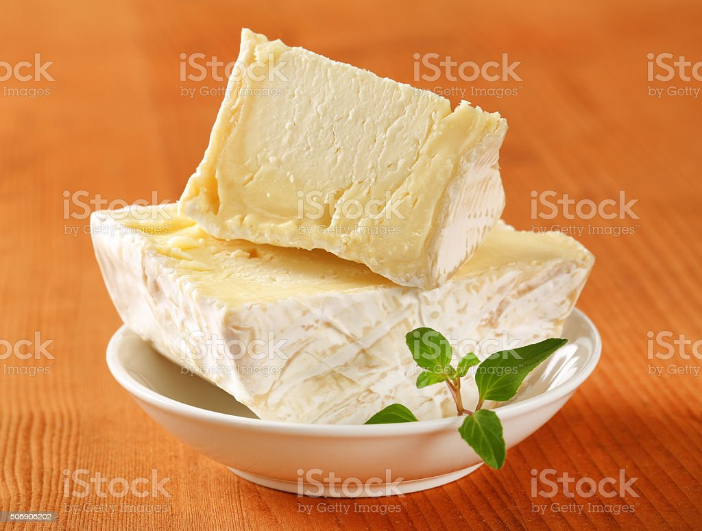 Chaource cheese stock photo