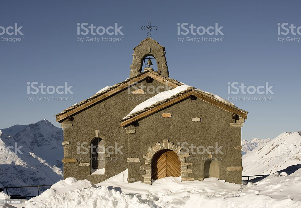 chapel at Gornergrat royalty-free stock photo