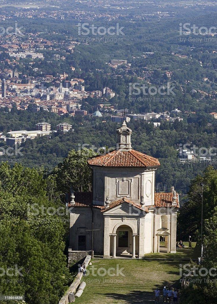 Chapel at Sacro Monte Varese royalty-free stock photo